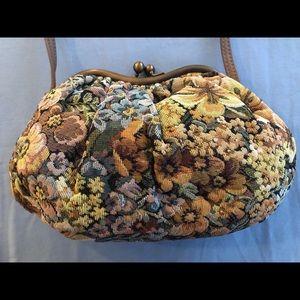 Vintage Julius Resnick JR Tapestry Handbag Purse